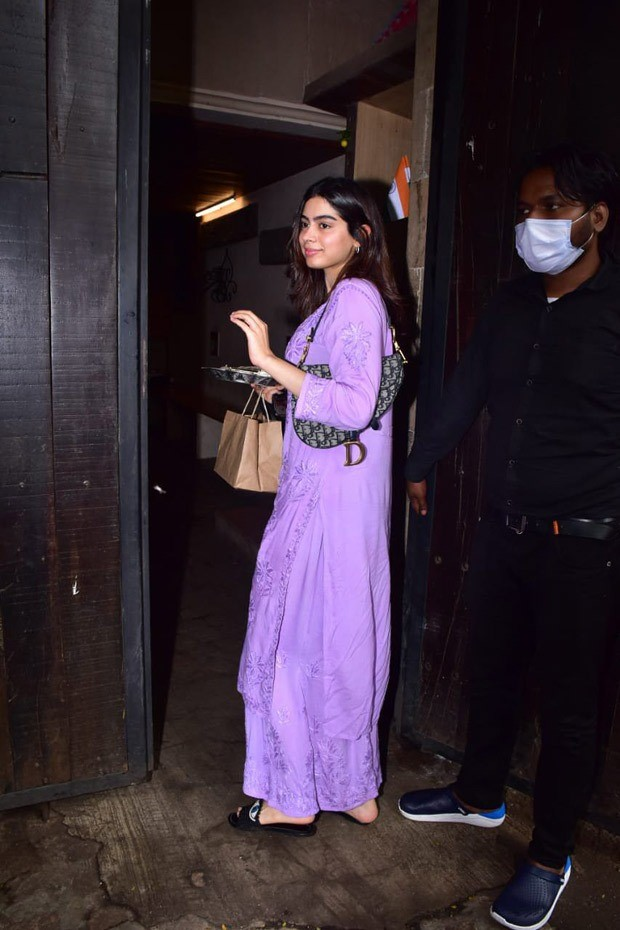 Khushi Kapoor steps out for Raksha Bandhan wearing friend Anjini Dhawan's brand and carries a bag worth Rs. 2.8 lakh