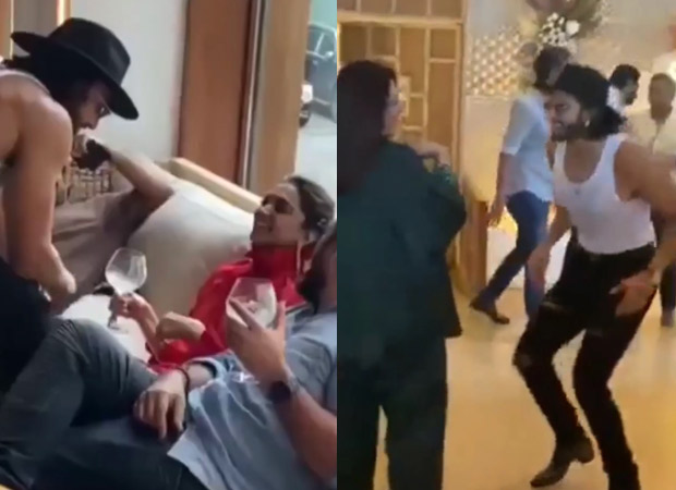 Ranveer Singh puts on a special dance performance for deepika at mother Anju's birthday party