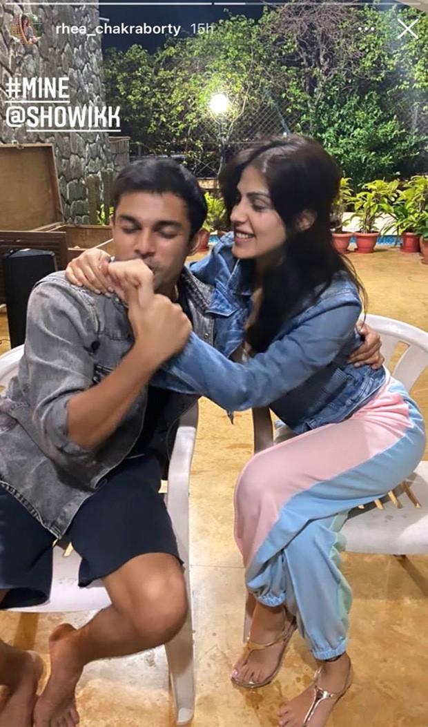 Rhea Chakraborty celebrates brother Showik Chakraborty's birthday at home; calls him 'warrior'