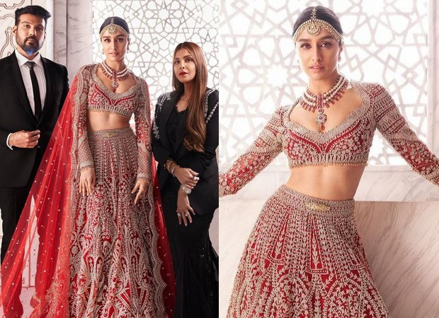Shraddha Kapoor turns muse for Falguni Shane Peacock in a bespoke bridal red lehenga