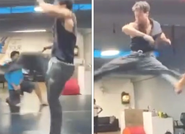 Tiger Shroff rehearses triple kicks and high kicks for action sequences in Ganapath, watch video