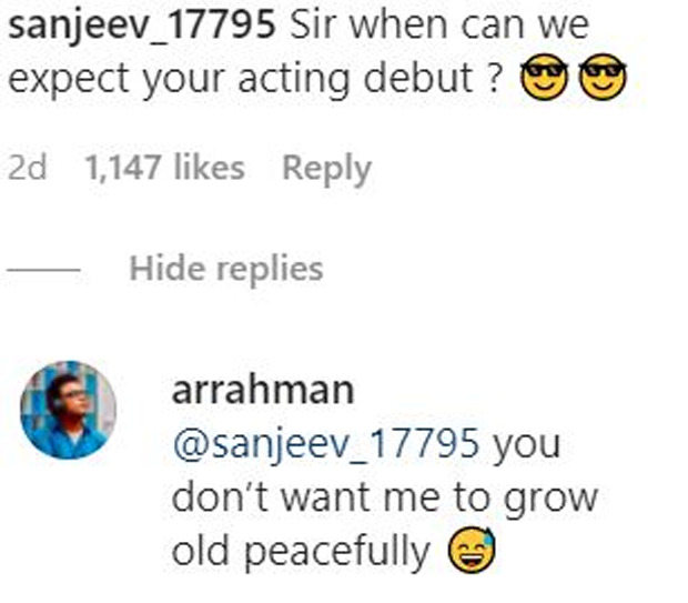 A.R Rahman leaves everyone in splits with his response to a fan asking about his acting debut