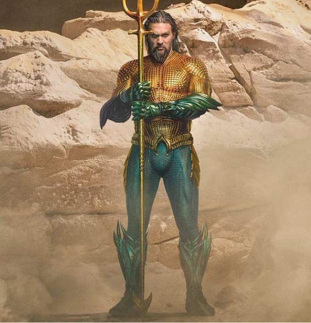 Jason Momoa unveils new version of Aquaman suit promising 'more action' in Aquaman and the Lost Kingdom