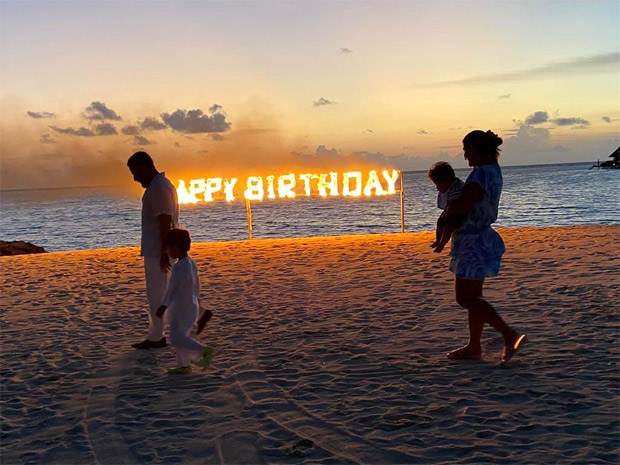 Kareena Kapoor Khan shares a lit picture from her birthday celebration with Saif Ali Khan, sons Taimur and Jeh