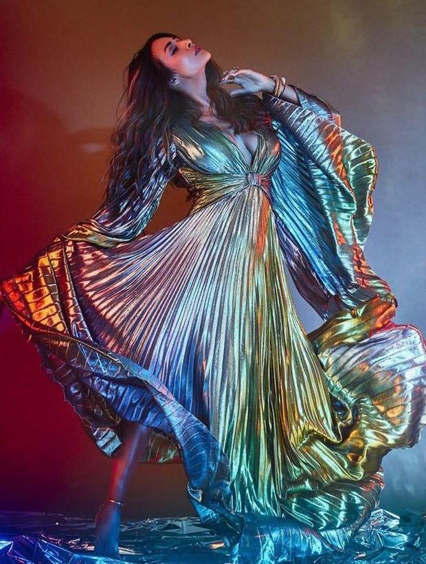 Malaika Arora sizzles in a pleated metallic dress