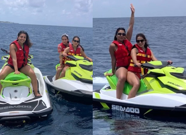Sara Ali Khan spends sometime in the Maldives jet skiing with her girl gang. Watch cool video
