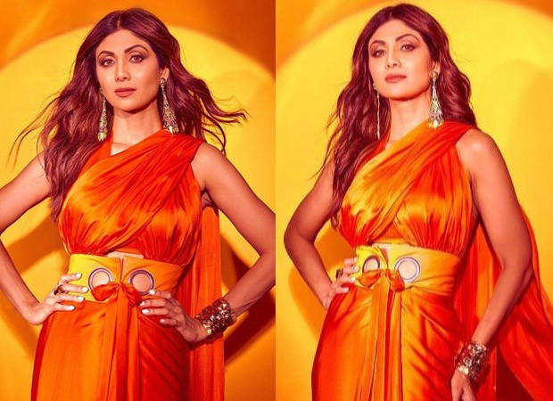 Shilpa Shetty stuns in a double pallu saree worth Rs. 24,500 for the shoot of Super Dancer - Chapter 4