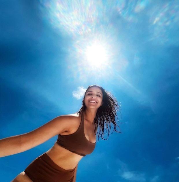 Parineeti Chopra looks radiant in a brown bikini during her vacation in Maldives