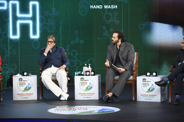 Rohit Shetty, Taapsee Pannu and many notable guests join campaign ambassador Amitabh Bachchan for Swasth India campaign