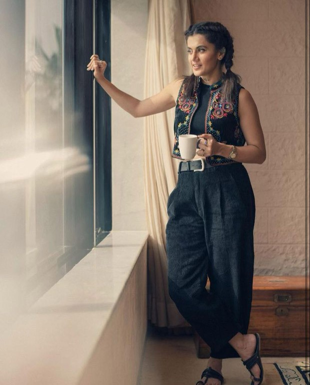 Taapsee Pannu makes a boho appearance in a gorgeous embroidered jacket worth Rs. 13,500